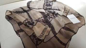 Valentino Lace Silk Scarf