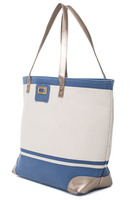 Thursday Friday Gold Toe Tote - Bijou Blue