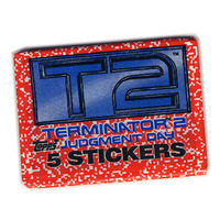 Vintage Terminator 2 Judgment Day Movie Stickers