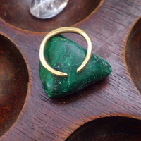 Jerry Warlick Openness Handcrafted Brass Ring