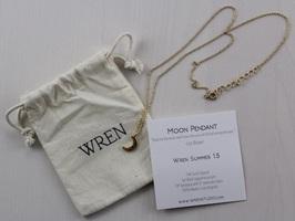 Wren Gold Moon necklace