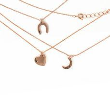 Wren Rose Gold Heart Necklace