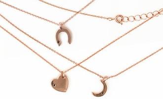 Wren Rose Gold Horseshoe Necklace