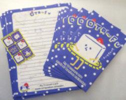 Japanese Kawaii Little Tofu Dude Stationary (12 lined sheets, 6 envelopes, 6 stickers)