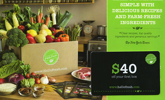 Hello Fresh $40 Gift Card