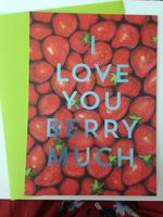 I Love You Berry Much card & envelope