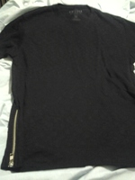 black t shirt w zippers