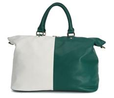 Deux Lux Mod Weekender - Green + White Color Block