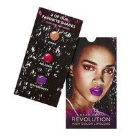 Revolution High-Color Lipgloss 3-shade Sample Card