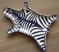 Jonathan Adler Zebra Stacking Dish - Blue