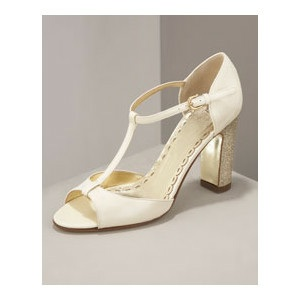 Juicy Couture Glitter Heel T-Strap Pump