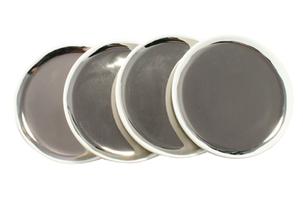Canvas Home Dauville Coasters in Platinum