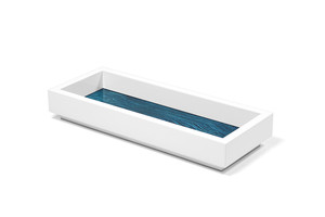 aura lacquer aquamarine valet tray