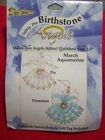 Darice Safety Pin Birthstone Angels Kit March/Aquamarine