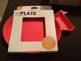 Just rabbit dip plate-red