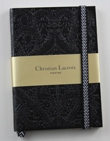 Christian Lacroix Papier Paseo Embossed Black Notebook
