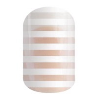 Jamberry White Stripe