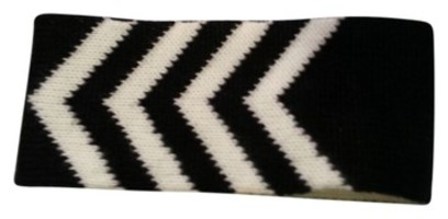 Chevron Print Ear Warmer Headband B&W