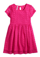 Pink Lace Baby Doll Dress