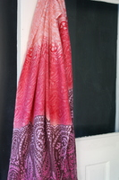 multi-toned pink paisley scarf