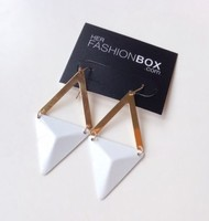 Her Fashion Box White Noise Earrings