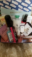 Birchbox box and lot of products