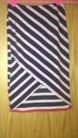 Potter's Pot striped pencil skirt