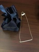 Swarovski Elements Sparkling Pave Bar Necklace, Silver/white - Walter Baker