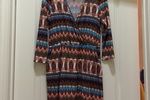 Pink Owl Faux Wrap Dress (Size L)