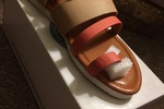 Dbdk coral and nude sandal