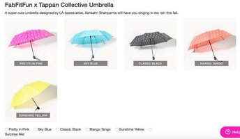 FabFitFun x Tappan Collective Umbrella
