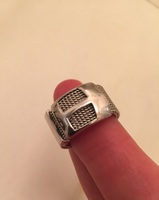 silver lining mesh ring
