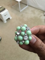 Cocktail ring- green