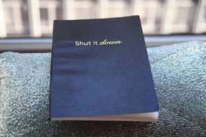 "Sloane Stationery ""Shut It Down"" Notebook"