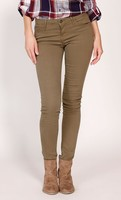 Golden Tote Just Black Olive Colored Skinny Jeans