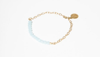 Tribe Alive Crystal Bead Bracelet in Aquamarine