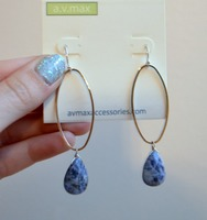 AV Max Adele blue stone earrings