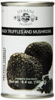 Urbani black truffles and mushrooms