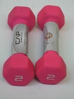 2 Pound CAP Barbell Neoprene Coated Dumbbells ~ Pink