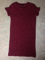 Everly Knit Shift Dress Burgundy Small