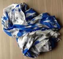 Brokedown Blue Ikat Scarf