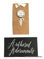 Authored Adornments Customs Vintage Silver Bookmark