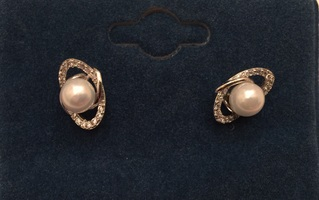 Lady Pearls Earrings with a CV Pave in The Style Box