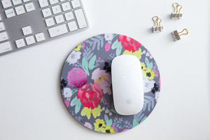 Caitlin Wilson Bridge City Blooms in Gray Mousepad