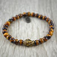 6mm Tigers Eye Buddha
