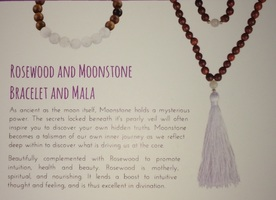 Rosewood and Moonstone Mala Only