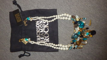 Erickson Beamon Crystal Gold Pearl Necklace