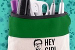 """Hey Girl"" zip pouch by Darby Smart"