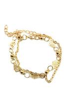 Delicate Gold Filigreed Heart Bracelet