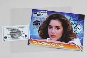 Claudia Wells autograph